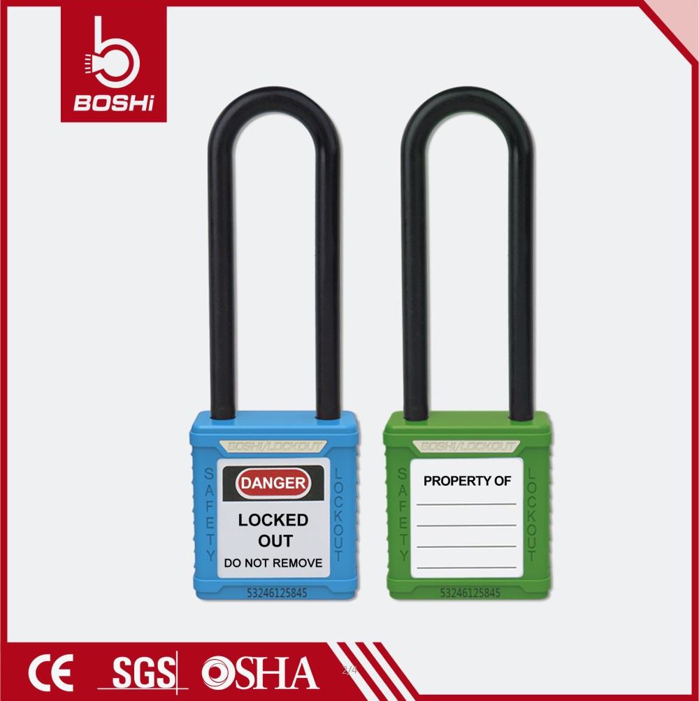 waterproof Nylon Shackle Master Padlock with Keys BD-G32
