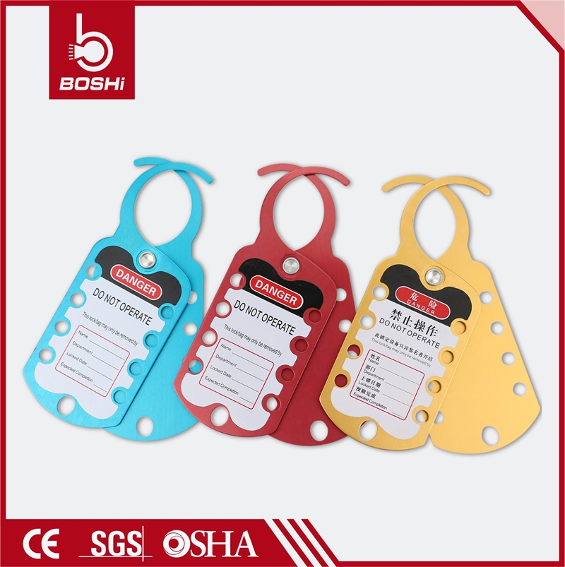 Eight-Hole Aluminum colorful Lockout Hasp BD-K52